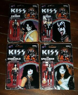 KISS DEMON/SPACEMAN/CATMAN/STARCHILD In Love Gun Outfits Action Figures!