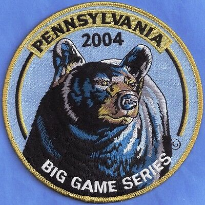 """Pa Game Fish Commission Wilderness Editions 2004 6"""" ARTIST SIGNED Bear Patch"""