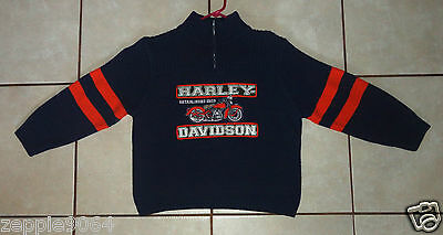Youth's Harley Davidson Sewn 1/4-Zip Sweater  Large ( 14/16 )