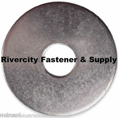 """(25) 1/4x1-1/4 Fender Washers Stainless Steel 1/4"""" x 1-1/4"""" Large OD Washers"""