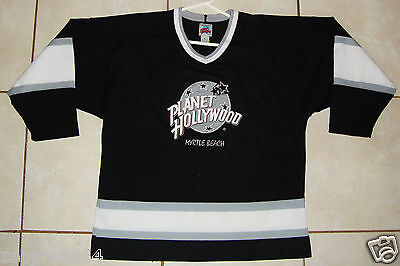 Men's 1991 Vintage  Planet Hollywood Myrtle Beach Sewn Hockey Jersey Large L
