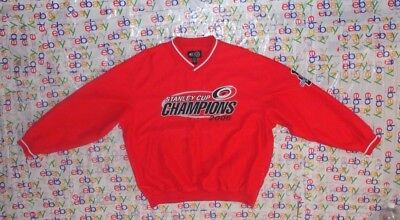 Men s 2006 Stanley Cup Nhl Carolina Hurricanes G-Iii Sewn Red Jacket Xlarge  Xl f8a26bc4e