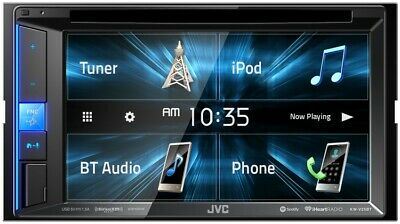 """JVC KWV120BT Bluetooth DVD/CD/USB Receiver with 6.2"""" WVGA Touch Panel Monitor"""