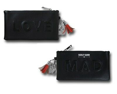 DC Comics Suicide Squad Harley Quinn Mad Love Desbossed Black Wallet Clutch