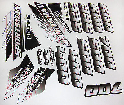 Polaris Sportsman 335 400 500 600 700 Body Fenders Stickers Decals Graphics Kit