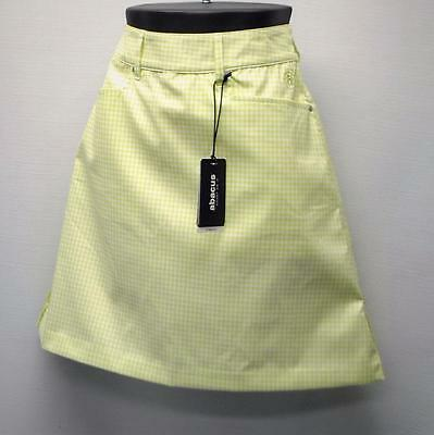 New Ladies Size 4 Abacus Dry Cool green checked polyester spandex golf skorts