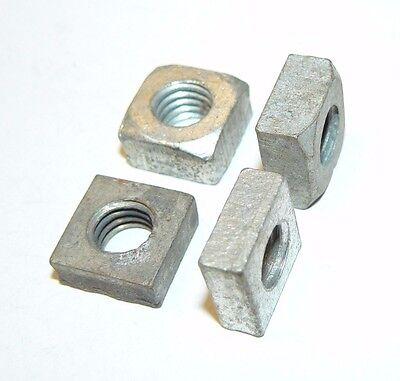 "3/8""-16 Square Nuts - Coarse Thread - Zinc Plated Finish-Mixed - Lot of 50 Pcs."