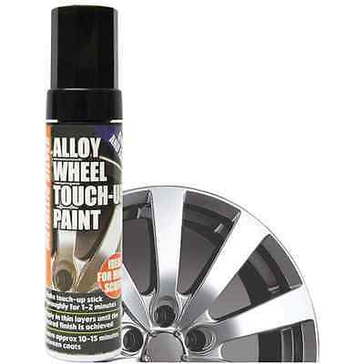 E-Tech Silver Professional Alloy Wheel Touch up Paint Stick Chip Damaged Repair