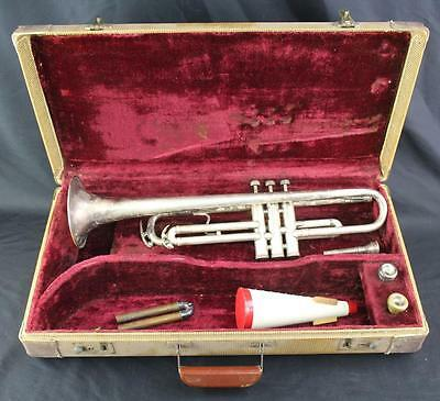Early Antique Ohio Band Trumpet w/Bach & King Mouthpieces & Hard Case