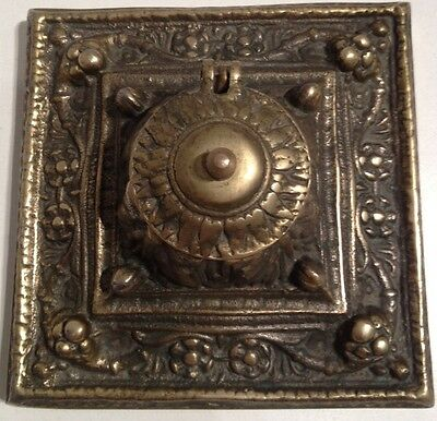 Vintage Brass Floral Ornate Tissue Box Holder Lid Cover