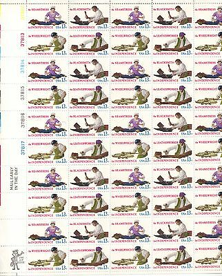 USA-United States 1977 13c Postage Skilled Hands Sheet Scot 1717-20 MNH