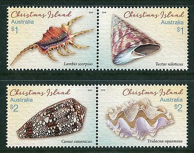 Christmas Island - Shells 2016 - Mnh Set Of Four (Go229)