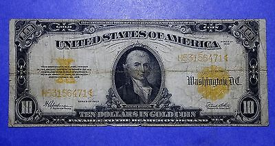 1922 Large Size $10 Gold Certificate VG