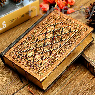 Retro Vintage Journal Notebook Diary Leather Blank Hard Cover Sketchbook Paper