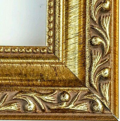 36 ft - Ornate Antique Gold Picture Frame Moulding, Wood, Beaded