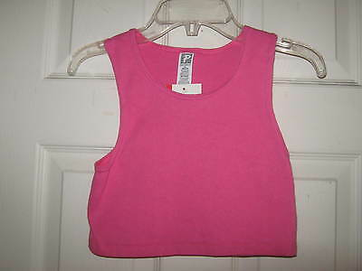NEW Pink/ Fushia Crop Dance Top from Simply Basic w/ tags - Size Medium
