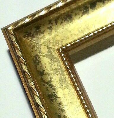 ☆TODAY☆ 100 ft Ornate Gold Picture Frame Moulding, Small Rope, Scoop, Beaded Lip