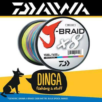 Daiwa J Braid | 50lb 1500m Braid Fishing Line -Multi Colour