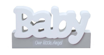 Girl/Boy Silver based and White Baby Block Word Sign