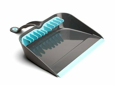 Quirky Broom Groomer Step-On Dustpan with Rubber Teeth