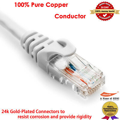 75FT 100% Pure Copper Cat5e Ethernet Patch Cable RJ45 Computer Networking Cord