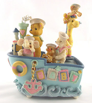 Last One High Quality Little Ones Adorable Baby Animal Sailors Musical Boat