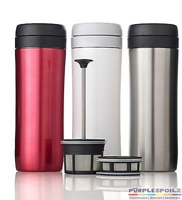 NEW ESPRO COFFEE TRAVEL PRESS 450ml Brushed Red Tea French Berlin Insulated