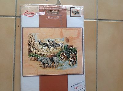 "Embroidery  Kit Counted Cross Stitch "" African Wildlife"""