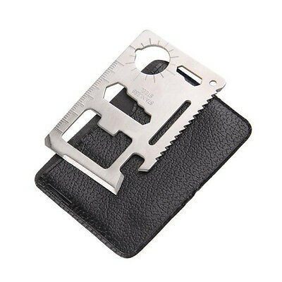 New 11 in 1 Multifunction Multi Credit Card Survival Knife Camping Tool Opener