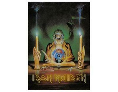 Official Licensed - Iron Maiden - Crystal Ball Poster Flag Metal Eddie