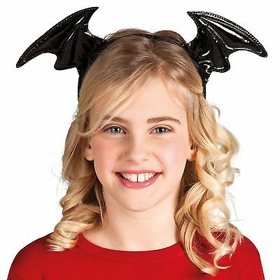 Shiny PVC Monster Bat Wings Halloween Costume Fancy Dress Headband Headdress BN