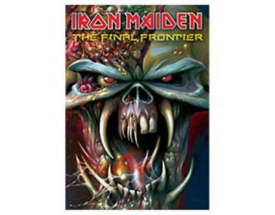 Official Licensed - Iron Maiden - Final Frontier Head Poster Flag Metal Eddie