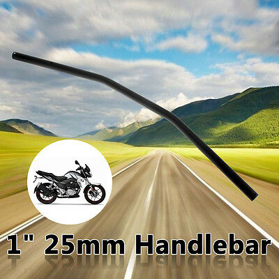 Motorcycle 1''Drag Bars Handlebars Black 32'' Wide For Harley 82+ Without Dimple