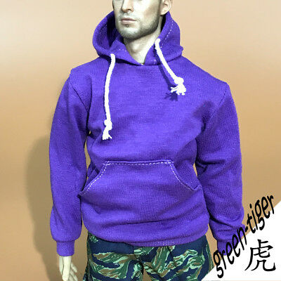 A803 Pur 1:6 Scale ace action figure parts purple hoody hoodie Street style
