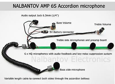 Accordion Microphone Pickup System Nalbantov AMP 6S with superior sound quality