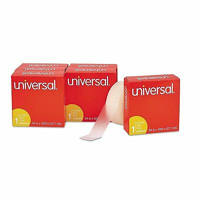 """Universal Invisible Tape 3/4"""" x 1000"""" 1"""" Core Clear 6 Per Pack - New Item"""