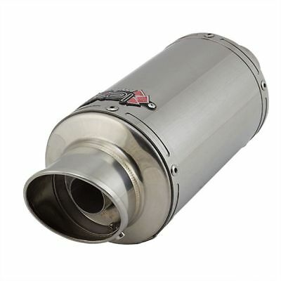 "LEXTEK YP4 Right Hand STUBBY Stainless Steel EXHAUST Silencer 2"" Slip-on End Can"