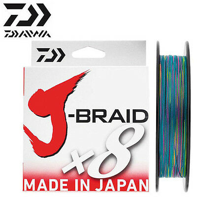 TRESSE DAIWA J BRAID X 8 MULTICOLORE 300M Modèle: 0.24mm
