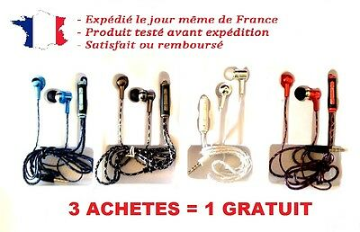 Ecouteurs Intra-Auriculaire Kit Main Libre Iphone Apple Samsung Sony Lg Nokia