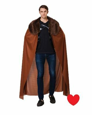 Long cloak cape fur collar medieval reinactment game of thrones