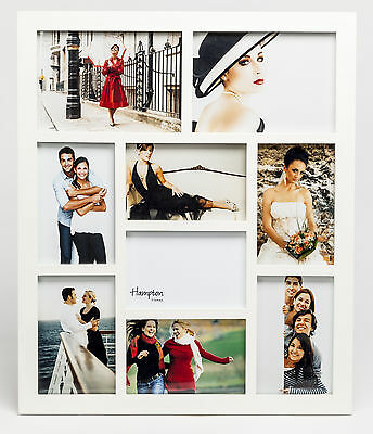 Hampton Frames Gallery 9 Multi Aperture White Wood Photo Picture Frame 1232WH9