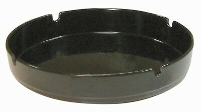 "10 x Black Melamine Ashtrays 7"" Cigarette Ashtray Pub Outdoor"