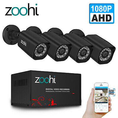ANRAN 4CH 1080N AHD DVR Security System Outdoor IR Night Vision 720P CCTV Camera