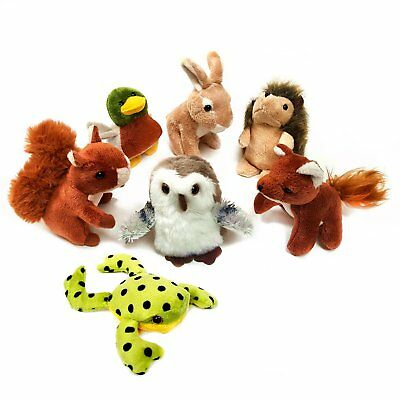 Pack of 7 Mini Woodland Animal Soft Cuddly Toys - Ideal Gifts & Stocking Fillers