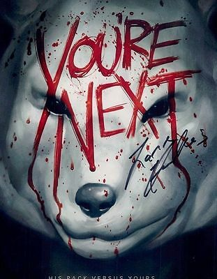 Lane Hughes In Person Signed Photo - A672 - Fox Mask - You're Next