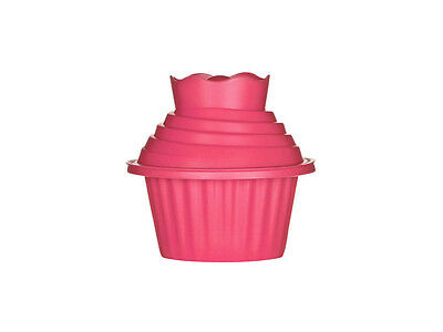 Giant Large Cupcake Set 3pc Hot Pink Silicone Big Full Size Cake Mould