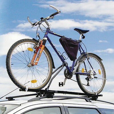 2 x Universal Car Roof Upright Mounted Bicycle Carrier Bike Locking Cycle Rack