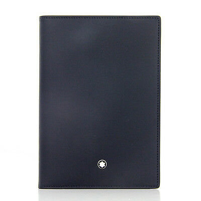 Montblanc Meisterstùck Passport Holder Navy - 114573 - NEW COLOR