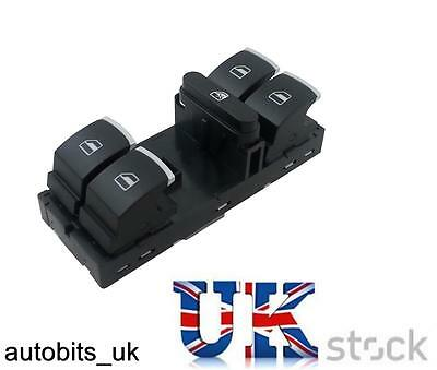 VW Master Window Switch Golf MK5 MK6 Passat B6 Tiguan Scirocco Eos Chrome Power