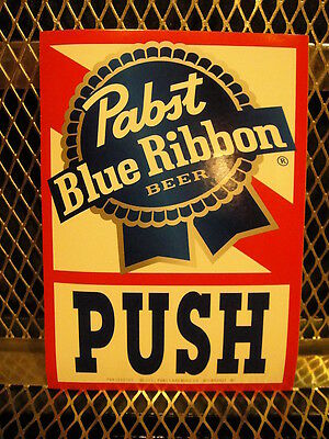 PBR PABST BLUE RIBBON Beer ~ NEW~ Sticker Double Sided 5 X 7 FREE US SHIPPING